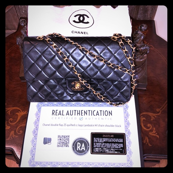 922962f6524b CHANEL Bags | Double Flap 25 Quilted Cc Gold Lambskin | Poshmark